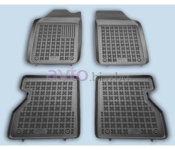 Гумени стелки комплект предни и задни (4 броя) - черни