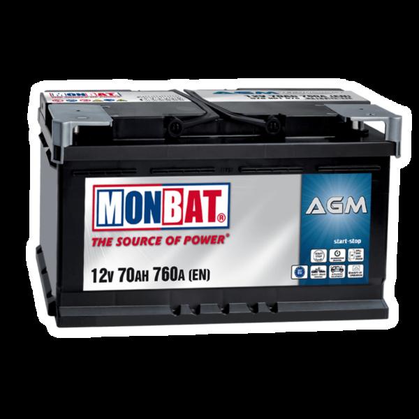 AGM акумулатор MONBAT 70Ah 760A