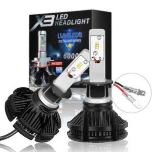 LED крушки за фарове H7 модел X3 с 24 месеца пълна гаранция