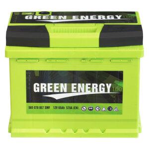 Акумулатор GREEN ENERGY 65Ah 570A R+